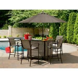 garden oasis 5 piece patio bar set have fun hosting with