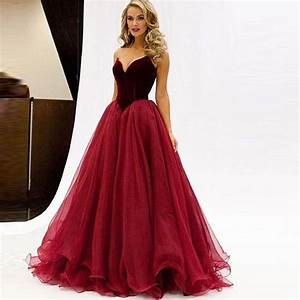 Dropped Waist Burgundy Tulle Sexy Prom Dresses Fashion ...