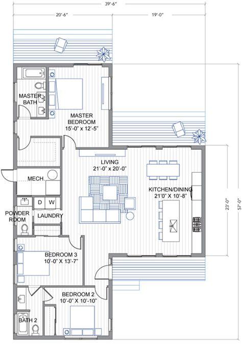 casa t dise 241 o de casa moderna de un piso en forma de quot t