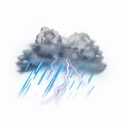 Lightning Thunder Thunderstorm Effects Clouds Transparent Background