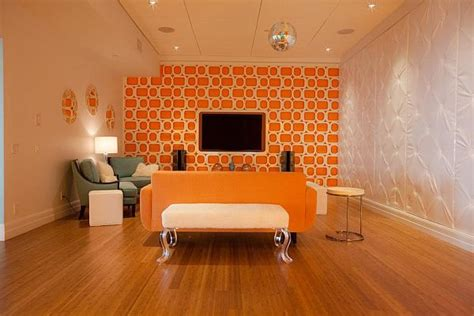 bright  fun orange room design