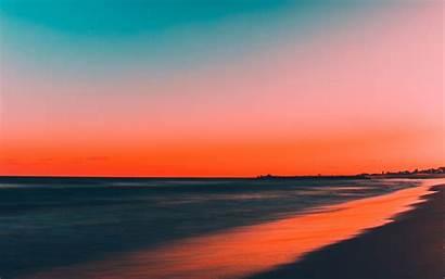 Sunset Beach Clean Skyline 4k Sky Background