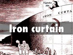 iron curtain political cartoon
