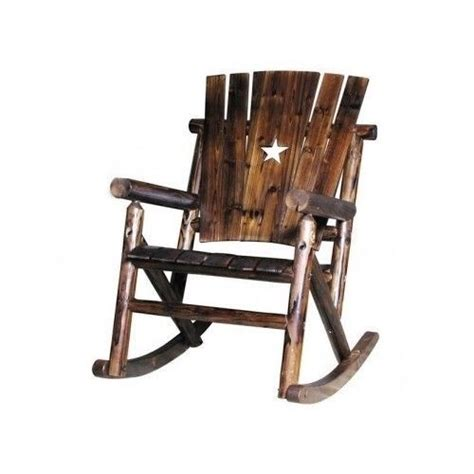 rustic wooden rocker rocking chair porch patio