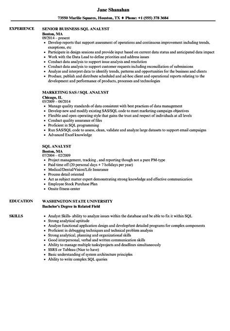 Sql Analyst Resume sql analyst resume sles velvet