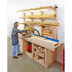Lumber Storage Rack Plans Free by Multipurpose Workcenter Woodworking Plan From Wood Magazine