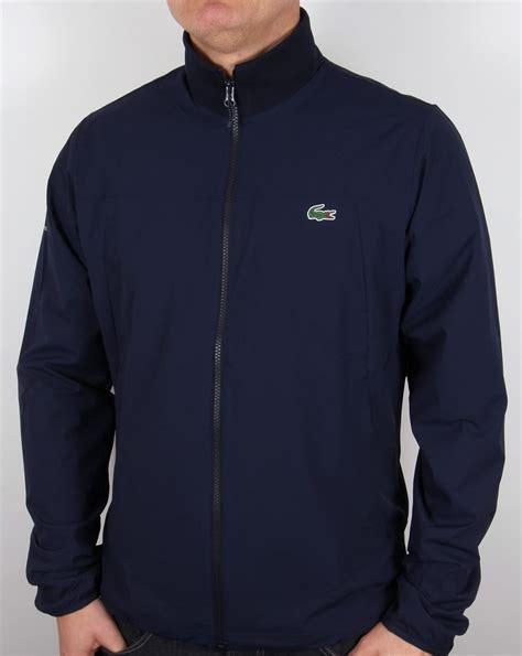 zipped jacket lacoste zipped jacket navy white coat harrington mens
