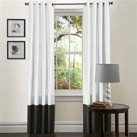 Modern Curtain Panels For Living Room by Simply Amazing Black And White Curtains To Decorate Your
