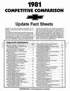 1981 Chevy Repair Shop Manual Impala Caprice Camaro Malibu