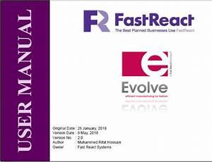 Textile Jogot  User Manual Of Evolve Fast React