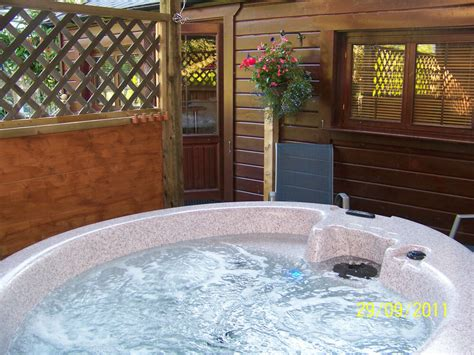 Log Cabin Tub by Spa Getaway In A Log Cabin Your Own