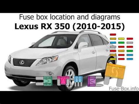 fuse box location  diagrams lexus rx