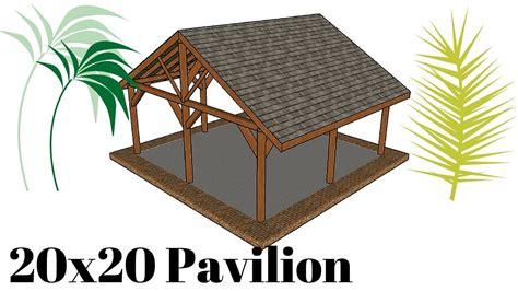 Pavilion Plans Backyard by 20x20 Outdoor Pavilion Plans