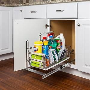 Armoire Rangement Cuisine : rangement coulissant amovible produit nettoyage cuisine armoire tiroir ~ Teatrodelosmanantiales.com Idées de Décoration