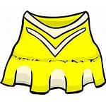 Cheerleader Clipart Clothes Yellow Outfit Penguin Club