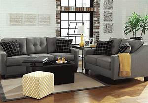 Brindon Charcoal Sofa Set Lexington Overstock Warehouse