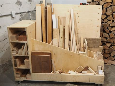 ultimate lumber storage cart buildsomethingcom
