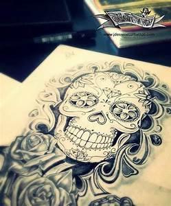 Tete De Mort Mexicaine Dessin : 1000 ideas about dessin tete de mort on pinterest skull ~ Melissatoandfro.com Idées de Décoration