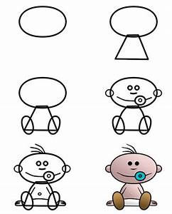 Can you draw this cute cartoon baby? More tutorials ...