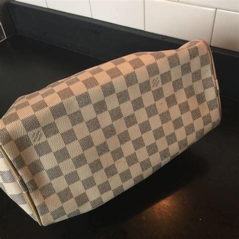 louis vuitton bags louis vuitton white checkered speedy bag poshmark