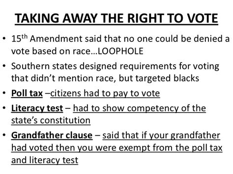 Voting Literacy Test South