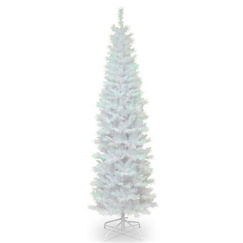 unlit white trees slim 6 5 ft decorators white iridescent tinsel unlit slim tree trees at hayneedle