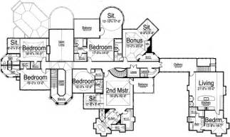 6 bedroom house plans luxury luxury style house plans 7618 square foot home 2 story 6 bedroom and 8 bath 5 garage
