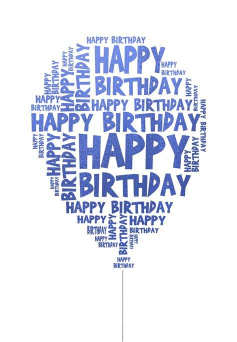 happy birthday balloon birthday card