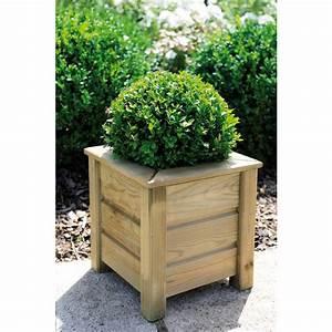 Fleur En Bois : bac fleurs en bois carr 16 l avec rebords am lie 30 ~ Dallasstarsshop.com Idées de Décoration