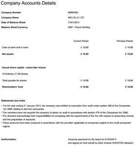 Balance Sheet Template Filing Dormant Company Accounts Inform Direct