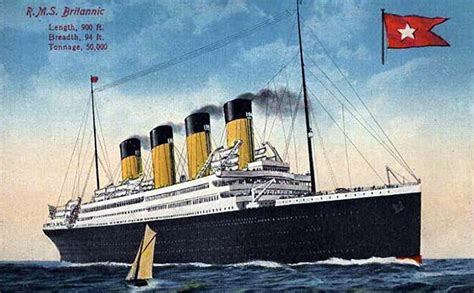 Did Olympic Sink by Maritimequest Hmhs Britannic 1914 The Art Of Britannic
