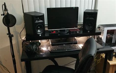music studio desk ikea work in progress quot black to basics quot music studio desk