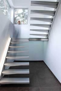 Escalier suspendu 2 quarts tournant Divinox