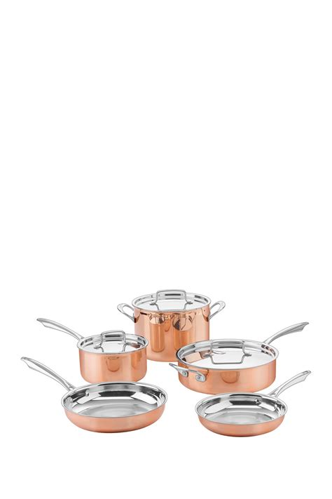 cuisinart copper collection tri ply stainless  piece