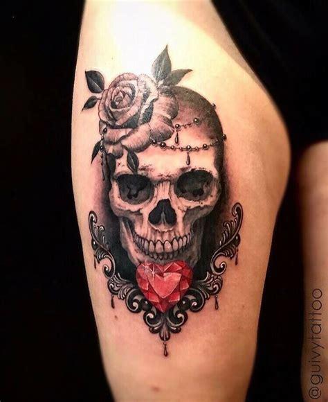 guivyguivy tattoo geneva guivy geneve tatouage skull