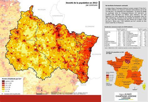 Carte Densité Population 2017 by Carte Du Grand Est Grand Est Carte Des Villes