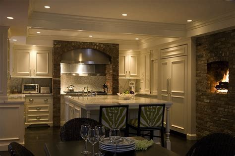 Cream Wood Panel Kitchen Hood Design Ideas