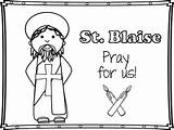 Blaise Blessing Coloring Throats Saint Mini Pages St Printables Activities Followers sketch template
