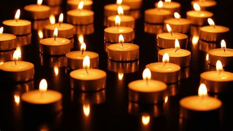 Stock Video Clip Of Many Burning Candles Shutterstock