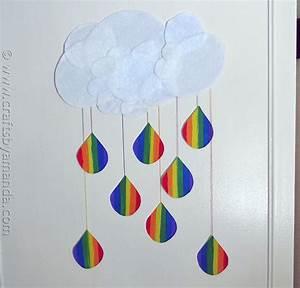 Rainbow Crafts: Cloud and Rainbow Raindrops - Crafts by Amanda