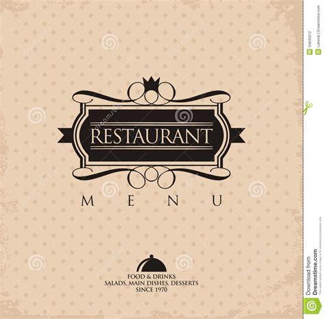 cuisines vintage restaurant menu design stock photography image 34840312