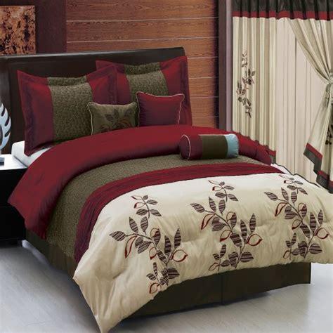 pasadena burgundy size luxury 7 comforter includes comforter throw