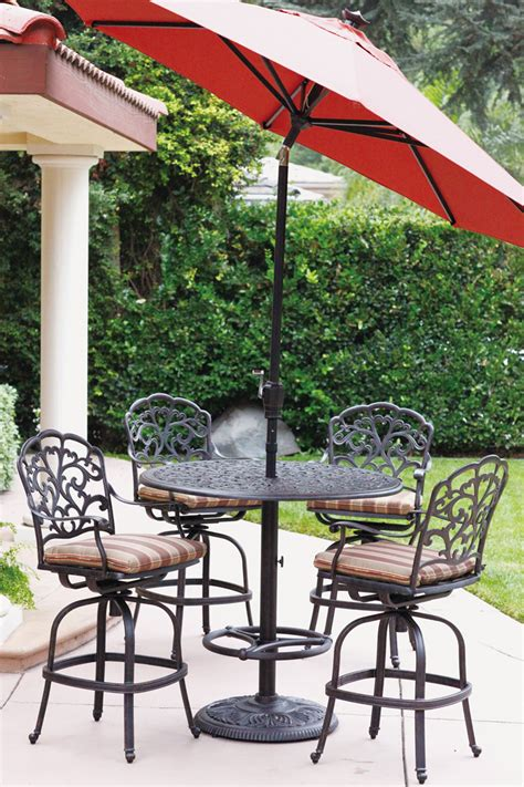 market umbrella aluminum frame 9 autotilt bar height