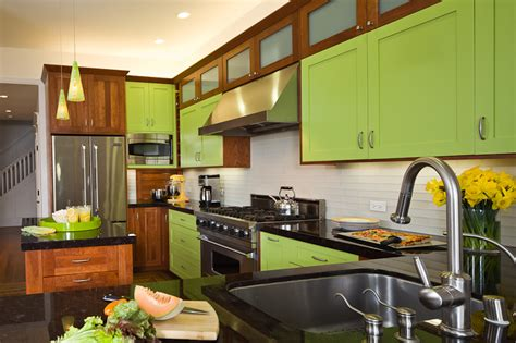 Lime Green Kitchen  Green Kitchen Design  Remodel Story