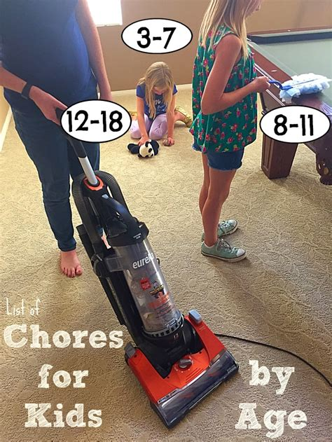 age  chores  kids  typical mom