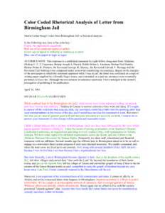 lesson plans letter from birmingham jail