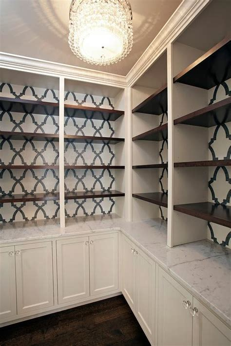 White And Black Bookcase by Black And White Wallpaper On Back Of Built In Bookcase