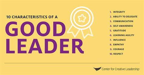 characteristics   good leader ccl