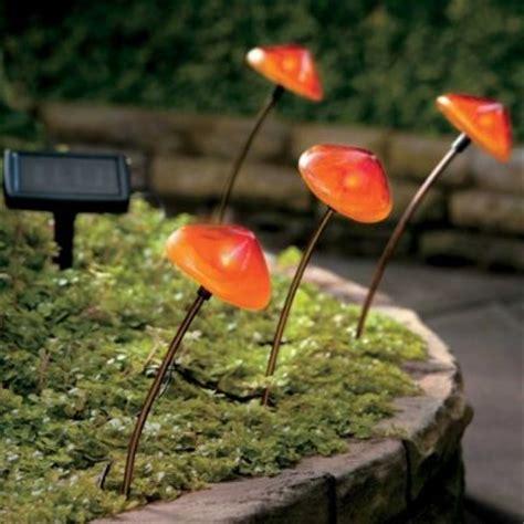 solar mushroom garden lights solar mushroom pathway lights set of 4 garden pinterest
