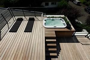 Spa Bois Exterieur : terrasse bois solarium spa exterieur jacuzzi exterieur ~ Premium-room.com Idées de Décoration